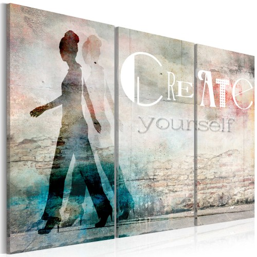 Quadro - Create yourself - trittico - Quadri e decorazioni