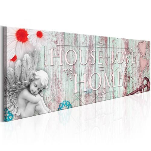 Quadro - Home: House + Love - Quadri e decorazioni
