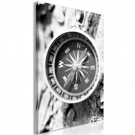 Quadro - Black and White Compass (1 Part) Vertical - Quadri e decorazioni