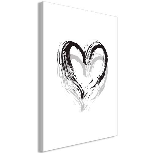 Quadro - Brush Heart (1 Part) Vertical - Quadri e decorazioni