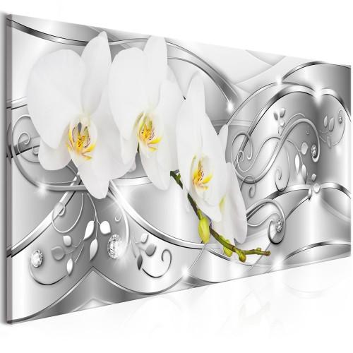 Quadro - Flowering (1 Part) Narrow Silver - Quadri e decorazioni