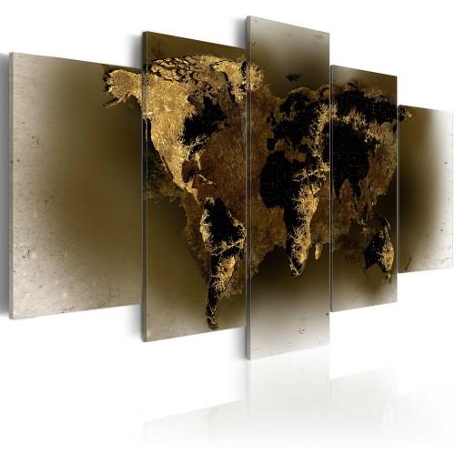 Quadro - Continenti dell'ottone - Quadri e decorazioni