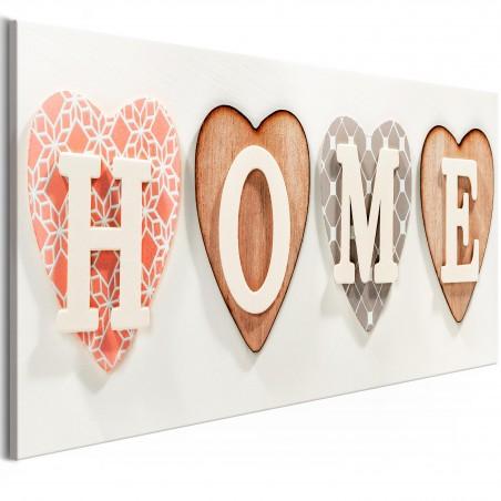 Quadro - Four Hearts (1 Part) Narrow - Quadri e decorazioni