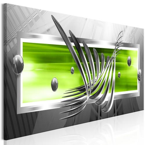 Quadro - Silver Wings (1 Part) Narrow Green - Quadri e decorazioni