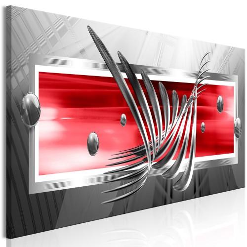 Quadro - Silver Wings (1 Part) Narrow Red - Quadri e decorazioni