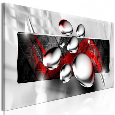 Quadro - Shiny Stones (1 Part) Narrow Red - Quadri e decorazioni