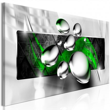 Quadro - Shiny Stones (1 Part) Narrow Green - Quadri e decorazioni
