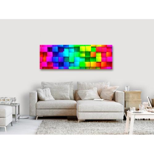 Quadro - Colourful Cubes (1 Part) Narrow - Quadri e decorazioni