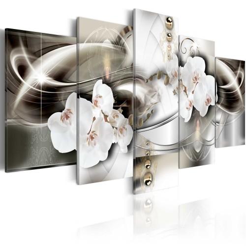 Quadro - Orchidee tra onde d'oro - Quadri e decorazioni