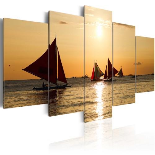 Quadro - Barche a vela al tramonto - Quadri e decorazioni