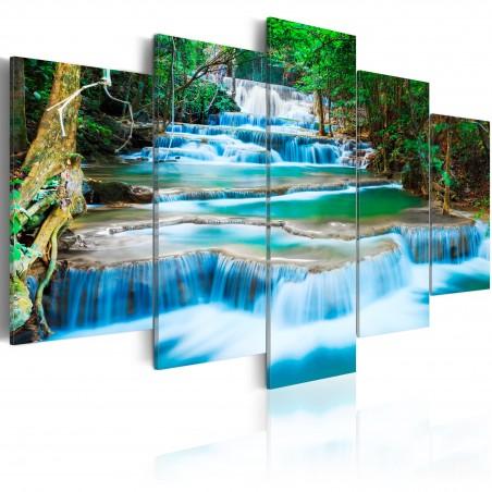 Quadro - Cascata azzurra di Kanchanaburi, Thailandia - Quadri e decorazioni