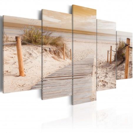 Quadro - Mattina in spiaggia - seppia - Quadri e decorazioni