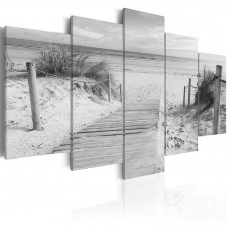 Quadro - Mattina in spiaggia - in bianco e nero - Quadri e decorazioni