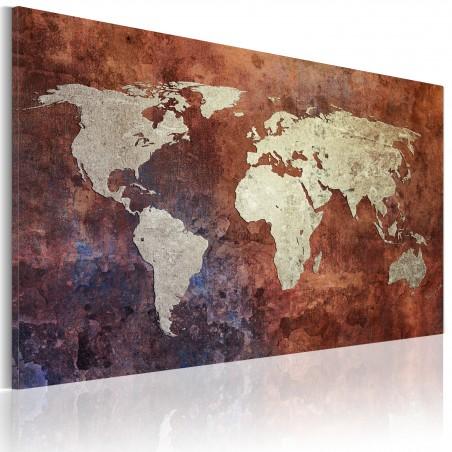 Quadro - Mappa del mondo rugginosa - Quadri e decorazioni