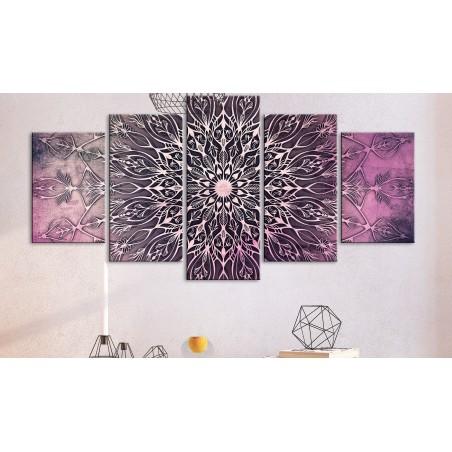 Quadro - Center (5 Parts) Wide Pink - Quadri e decorazioni