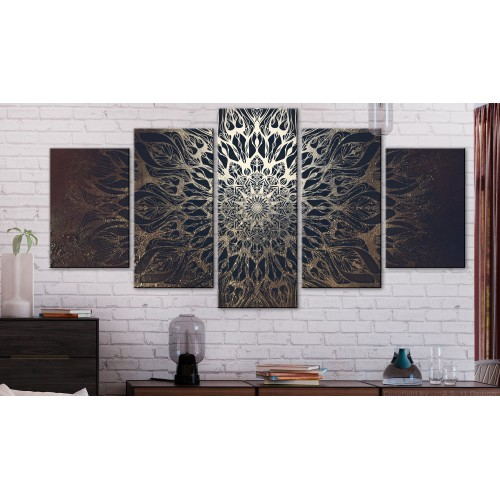 Quadro - Hypnosis (5 Parts) Brown Wide - Quadri e decorazioni