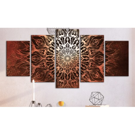Quadro - Hypnosis (5 Parts) Orange Wide - Quadri e decorazioni