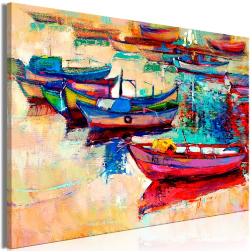 Quadro - Boats (1 Part) Wide - Quadri e decorazioni
