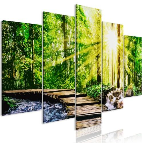 Quadro - Forest Footbridge (5 Parts) Wide - Quadri e decorazioni