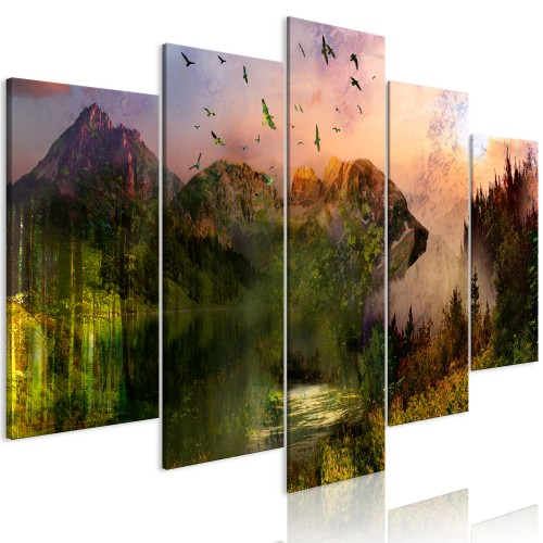 Quadro - Bear in the Mountain (5 Parts) Wide - Quadri e decorazioni