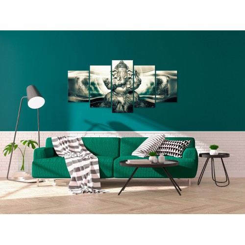 Quadro - Buddha Style (5 Parts) Green Wide - Quadri e decorazioni