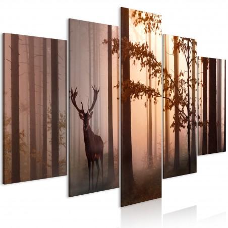 Quadro - Morning (5 Parts) Wide Brown - Quadri e decorazioni