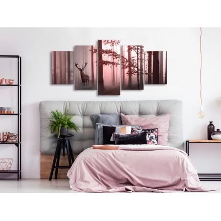 Quadro - Morning (5 Parts) Wide Pink - Quadri e decorazioni