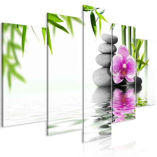 Quadro - Water Garden (5 Parts) Wide - Quadri e decorazioni
