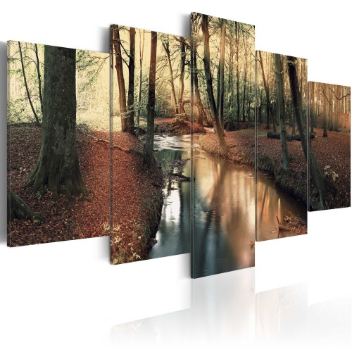 Quadro - Autunno marrone: foresta - Quadri e decorazioni