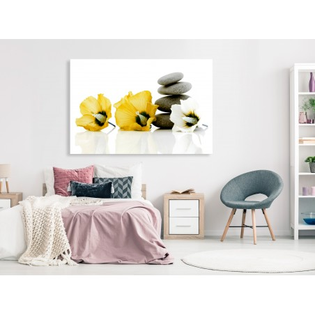 Quadro - Calm Mallow (1 Part) Wide Yellow - Quadri e decorazioni
