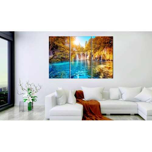 Quadro - Waterfalls of Sunny Forest - Quadri e decorazioni