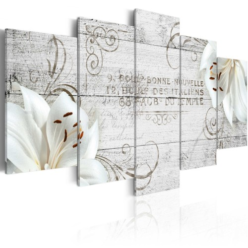 Quadro - Orchidee bianche su legno - Quadri e decorazioni