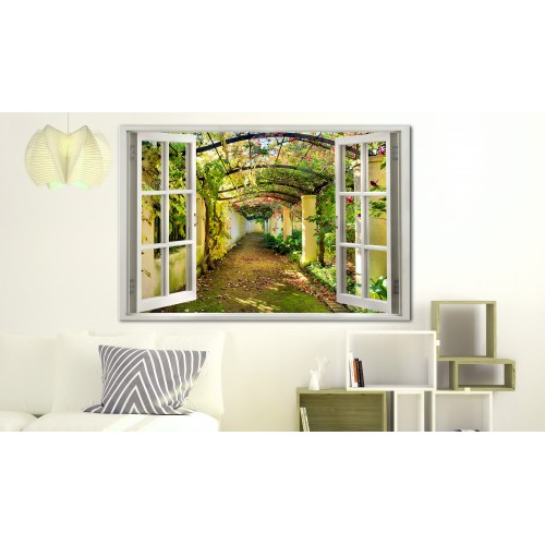 Quadro - Window: View on Pergola - Quadri e decorazioni