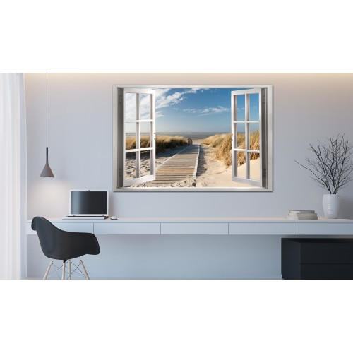 Quadro - Window: View of the Beach - Quadri e decorazioni