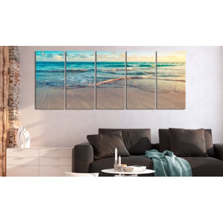 Quadro - Beach in Punta Cana (5 Parts) Narrow - Quadri e decorazioni