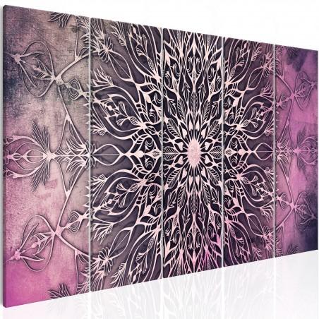 Quadro - Center (5 Parts) Narrow Pink - Quadri e decorazioni