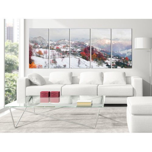 Quadro - First Snow (5 Parts) Narrow - Quadri e decorazioni