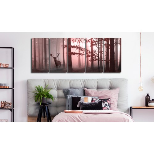 Quadro - Morning (5 Parts) Narrow Pink - Quadri e decorazioni