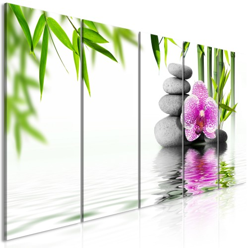 Quadro - Water Garden (5 Parts) Narrow - Quadri e decorazioni