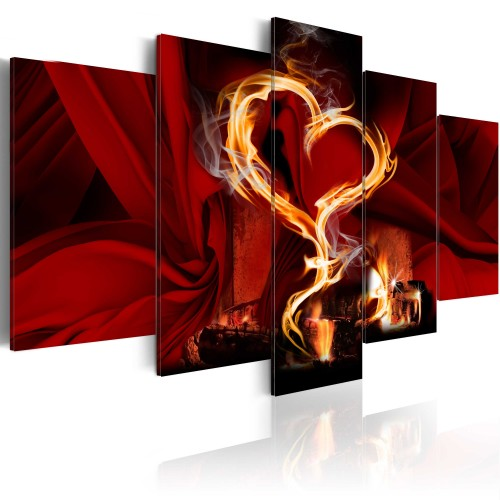 Quadro - Flames of love: heart - Quadri e decorazioni