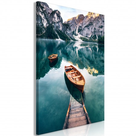 Quadro - Boats In Dolomites (1 Part) Vertical - Quadri e decorazioni