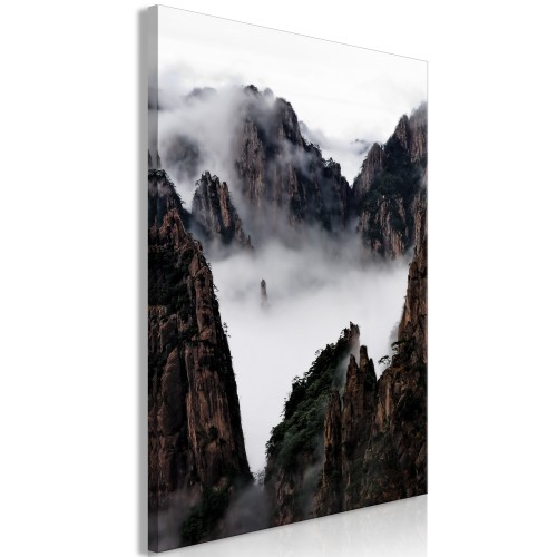Quadro - Fog Over Huang Shan (1 Part) Vertical - Quadri e decorazioni