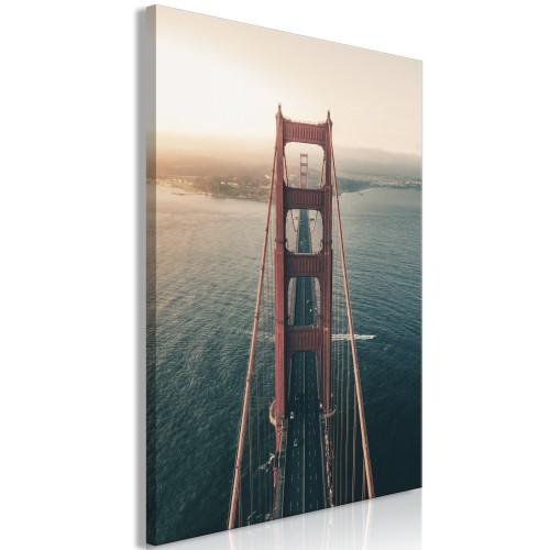Quadro - Golden Gate Bridge (1 Part) Vertical - Quadri e decorazioni