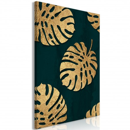 Quadro - Leaves of Luxury (1 Part) Vertical - Quadri e decorazioni