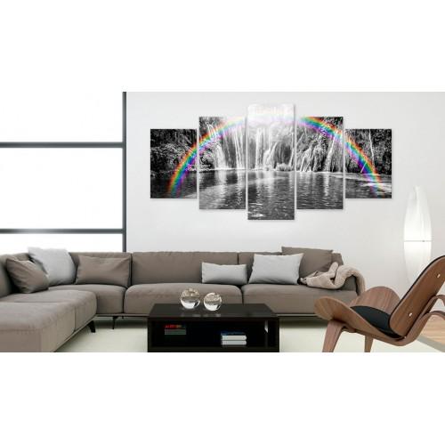 Quadro - Arcobaleno sul grigio - Quadri e decorazioni