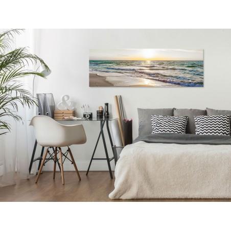 Quadro - Calm Waves (1 Part) Narrow Grey - Quadri e decorazioni