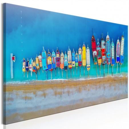 Quadro - Colourful Boats (1 Part) Narrow - Quadri e decorazioni