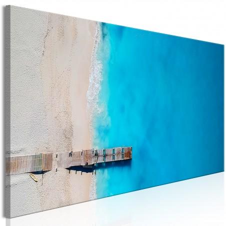 Quadro - Sea and Wooden Bridge (1 Part) Narrow Blue - Quadri e decorazioni