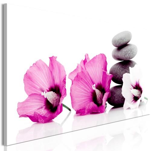 Quadro - Calm Mallow (1 Part) Narrow Pink - Quadri e decorazioni