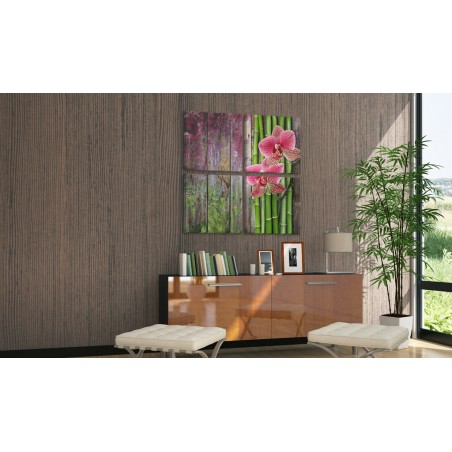 Quadro - Bambù e orchidea - Quadri e decorazioni